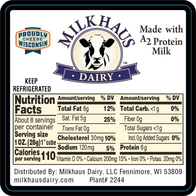 Ingredients label
